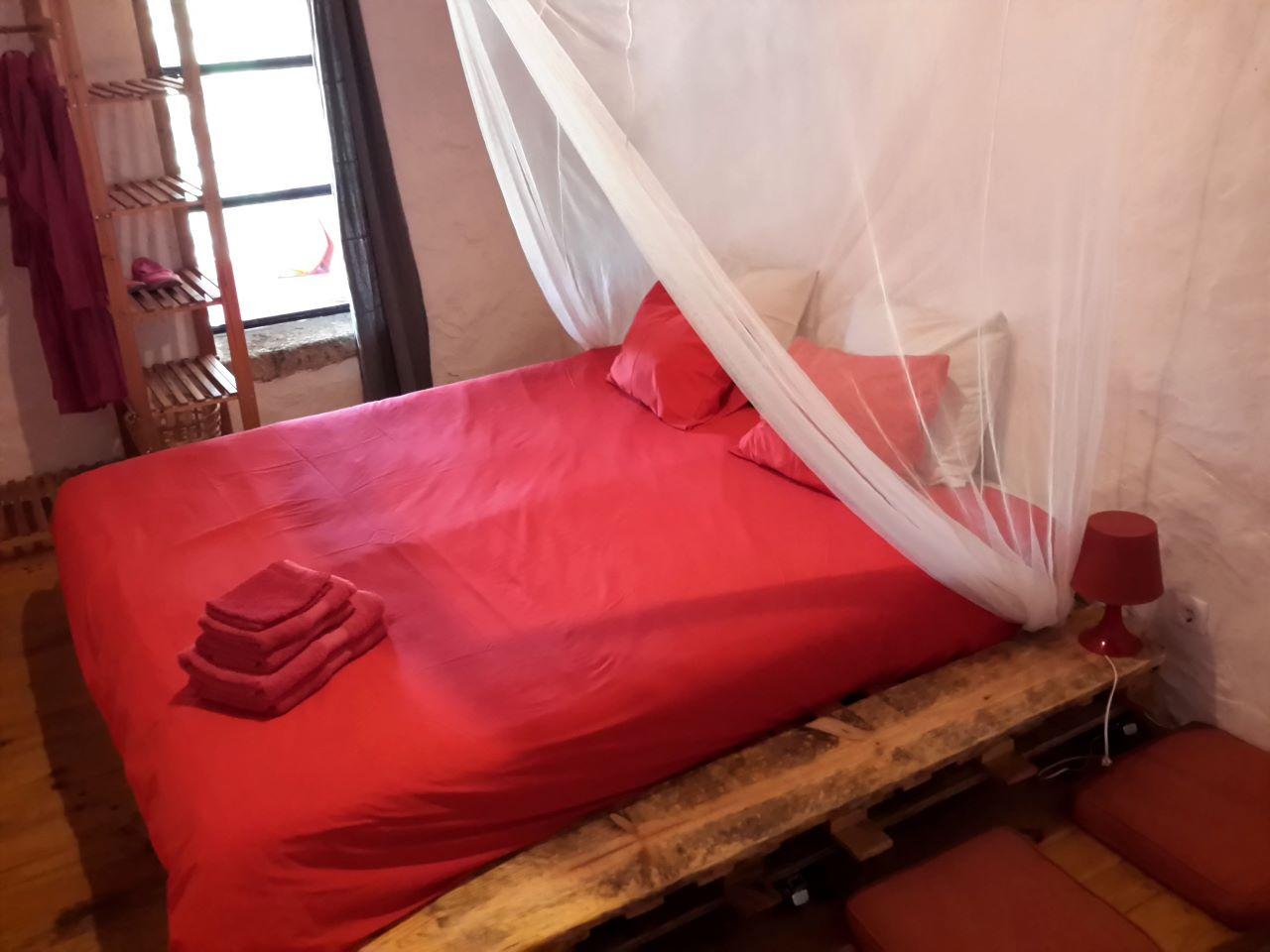 Turismo rural quarto romantico com lareira