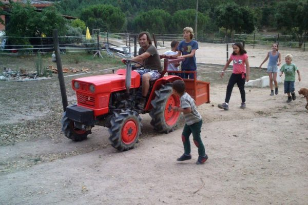 Holiday farm Portugal children helping